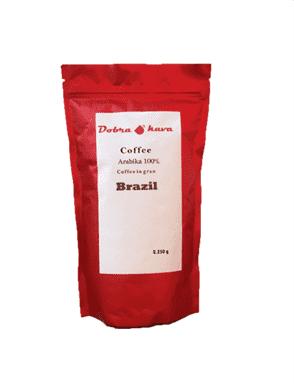 Кофе в зерне Dobra Kava Brasil (250 грамм)