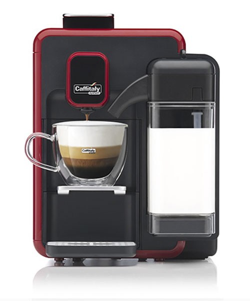 Сaffitaly Bianca BLACK-RED S22 One Touch Cappuccino