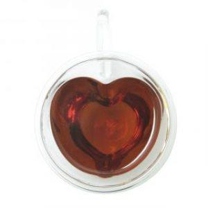 """Кружка двойное стекло """"Сердце"""" 150 мл, 1шт"""