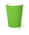Стакан гофрированный 175мл. (30шт) зеленый